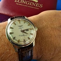 Longines Parts/Accessories Men's watch/Unisex 254721610632 pre-owned Leather Brown Conquest