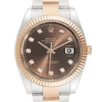 Rolex Datejust II Gold/Steel 41mm Brown No numerals United Kingdom, London