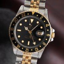 Rolex GMT-Master 16753 Odlično Zlato/Zeljezo 40mm Automatika