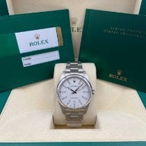 Rolex Oyster Perpetual 39 Steel 39mm White No numerals United States of America, New York, New York