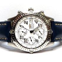 Breitling Blackbird подержанные 40mm Белый Хронограф Дата Телячья кожа