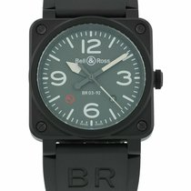 Bell & Ross BR 03-92 Ceramic new Automatic Watch with original box and original papers BR0392-MIL-CE