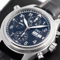IWC Pilot Double Chronograph Steel 42mm Black Arabic numerals United States of America, Texas, Houston