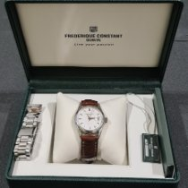 Frederique Constant Classics Index occasion 36mm Blanc Date Acier