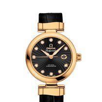 Omega Or jaune Remontage automatique Noir 34mm occasion De Ville Ladymatic