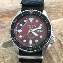 Seiko 5 Sports Steel 42.5mm Red No numerals United States of America, New Jersey