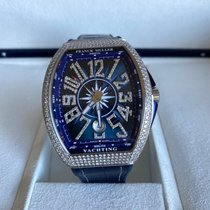 Franck Muller Steel Automatic Blue new Vanguard
