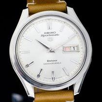 Seiko 5 Sports Acier 37.8mm Blanc Sans chiffres France, STETTEN