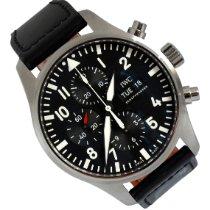 IWC Pilot Chronograph Steel 43mm Black Arabic numerals