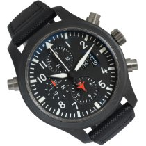 IWC Pilot Chronograph Top Gun Ceramika 46mm Czarny Arabskie