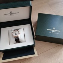 Frederique Constant Manufacture Classic Moonphase Gold/Steel 40.5mm Silver No numerals
