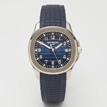 Patek Philippe Or blanc Remontage automatique Bleu Arabes 42.2mm occasion Aquanaut