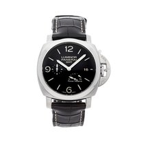 Panerai Luminor 1950 3 Days GMT Power Reserve Automatic pre-owned 44mm Black Date Fold clasp