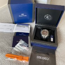 Seiko Grand Seiko pre-owned 44mm Brown GMT Steel