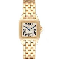 Cartier Santos Demoiselle Желтое золото 21mm Cеребро Римские
