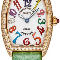 Franck Muller Rose gold Quartz Silver 25mm new Color Dreams