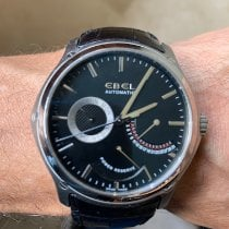 Ebel Classic Hexagon Steel 45mm Black No numerals