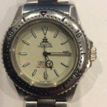Elgin Steel Quartz White No numerals 40mm pre-owned