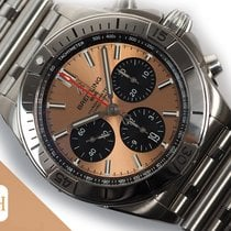 Breitling Chronomat pre-owned 42mm Brown Chronograph Date Steel
