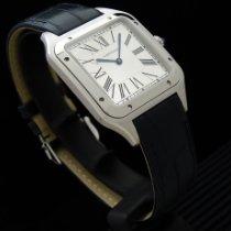 Cartier Santos Dumont Сталь 43.6mm Cеребро Римские