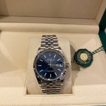 Rolex White gold Automatic Blue 36mm new Datejust