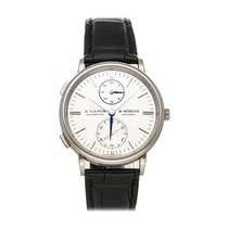 A. Lange & Söhne Saxonia White gold 38.5mm Silver No numerals United States of America, Pennsylvania, Bala Cynwyd