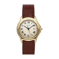 Cartier Cougar Yellow gold 33mm Silver Roman numerals United States of America, Pennsylvania, Bala Cynwyd