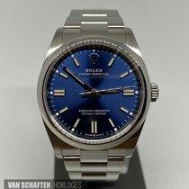 Rolex Oyster Perpetual 36 Acier 36mm Bleu Sans chiffres