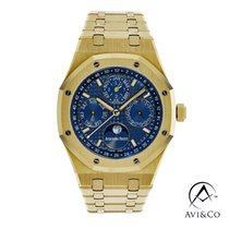 Audemars Piguet Royal Oak Perpetual Calendar Yellow gold 41mm Blue No numerals United States of America, New York, New York