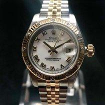 Rolex Lady-Datejust Acero y oro 26mm Blanco Romanos