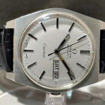 Omega Genève Steel 35mm Silver No numerals India, MUMBAI