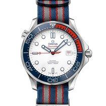 Omega Seamaster Diver 300 M Otel 41mm Alb Fara cifre