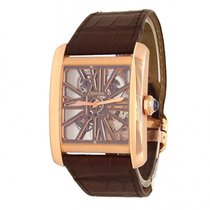 Cartier Rose gold Manual winding Transparent 35mm pre-owned Tank MC
