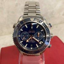 Omega Titanio Automático Azul Sin cifras usados Seamaster Planet Ocean Chronograph
