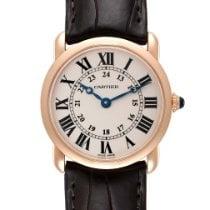 Cartier Rose gold Quartz Silver Roman numerals 29mm pre-owned Ronde Louis Cartier