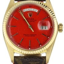 Rolex Day-Date 36 Yellow gold 36mm Red United States of America, Illinois, BUFFALO GROVE