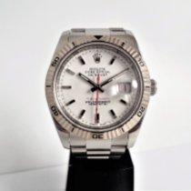 Rolex Aço Automático Branco Sem números 36mm usado Datejust Turn-O-Graph