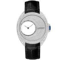 Cartier Palladium Handaufzug Silber Keine Ziffern 41mm neu Clé de Cartier