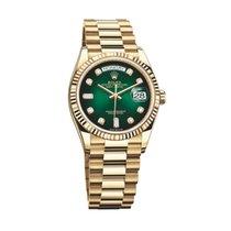 Rolex Day-Date 36 Yellow gold 36mm Green No numerals UAE, Dubai
