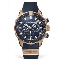 Ulysse Nardin Diver Chronograph Rose gold 44mm Blue