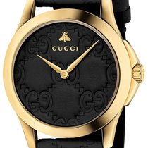 Gucci G-Timeless Acero 38mm Negro Sin cifras