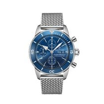 Breitling Superocean Héritage Chronograph Steel 44mm Blue No numerals