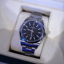 Rolex Oyster Perpetual 39 Steel 39mm Black No numerals Thailand, Chang Puaek