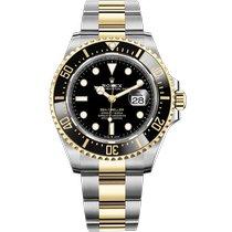 Rolex Sea-Dweller Acero y oro 43mm Negro Sin cifras