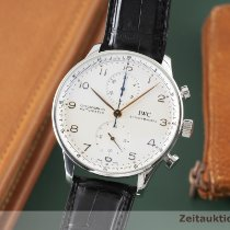 IWC 3714 Acier 2005 Portuguese Chronograph 41mm occasion