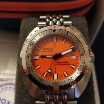 Doxa Sub Acero 42.50mm Naranja Sin cifras