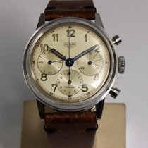Heuer Very good Silver 38mm Manual winding