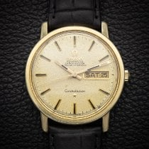 Omega Constellation Day-Date Or/Acier 35mm Champagne Sans chiffres