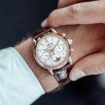 Patek Philippe Perpetual Calendar Chronograph Or rose 40mm Argent Sans chiffres