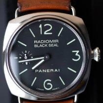 Panerai Radiomir Black Seal usado 45mm Preto Pele